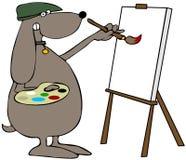 Pintor do cão ilustração do vetor