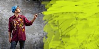 Pintor do homem Fotografia de Stock Royalty Free