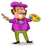 Pintor dos desenhos animados Foto de Stock Royalty Free