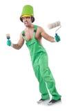 Pintor em combinações verdes Fotografia de Stock Royalty Free