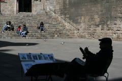 Pintor en Barcelona Imagen de archivo libre de regalías
