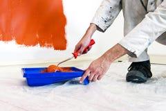 Pintor en el trabajo foto de archivo libre de regalías