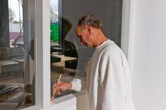 Pintor en el trabajo Foto de archivo