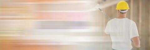 Pintor en solar con efecto de la transición imágenes de archivo libres de regalías