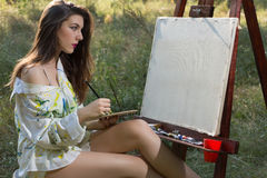 Pintor hermoso Imagen de archivo libre de regalías