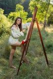 Pintor hermoso Imagen de archivo