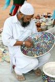 Pintor muçulmano imagens de stock