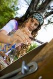 Pintor no processo Fotografia de Stock Royalty Free