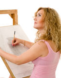 Pintor no trabalho Imagens de Stock