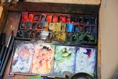 Pintor Palette Imágenes de archivo libres de regalías