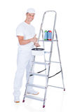 Pintor With Swatch Book Fotografía de archivo