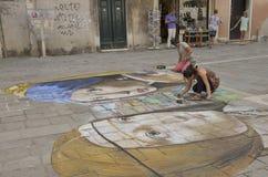 Pintor urbano Foto de archivo