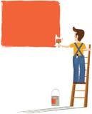Pintor y decorador stock de ilustración