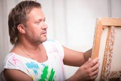 Pintor y su arte foto de archivo libre de regalías