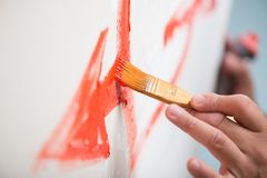 Pintor y su arte imagen de archivo libre de regalías