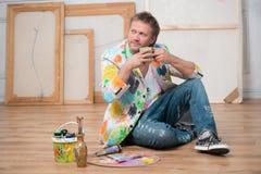 Pintor y su arte Fotografía de archivo libre de regalías