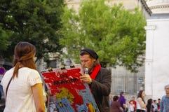 Pintor y su modelo foto de archivo libre de regalías