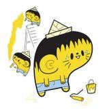 Pintores amarillos ilustración del vector