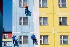 Pintores de casa Imágenes de archivo libres de regalías