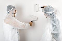 Pintores de casa Imagenes de archivo