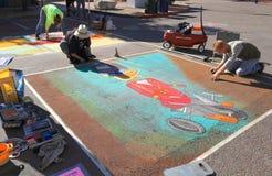 Pintores de la calle en el trabajo Imagen de archivo libre de regalías