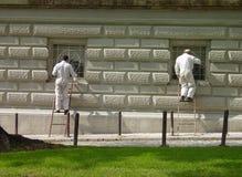 Pintores en el trabajo Imagen de archivo