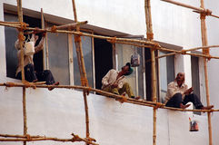 Pintores indianos Imagens de Stock