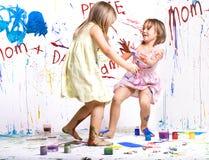 Pintores jovenes fotografía de archivo