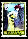 Pintores: Pablo Picasso, serie, cerca de 1978 Imagem de Stock Royalty Free