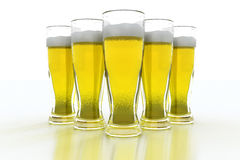 Pints of beer Royalty Free Stock Images