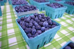 Pints of Blue Berries Stock Images