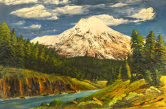 Pintura a óleo imagens de stock royalty free