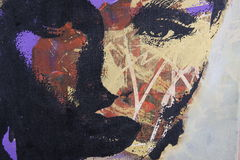 Pintura a óleo Foto de Stock Royalty Free