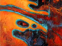 Pintura a óleo abstrata Imagem de Stock