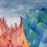 Pintura a óleo abstrata Fotografia de Stock Royalty Free