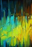 Pintura a óleo abstrata decorativa na lona, ilustração, backgr Foto de Stock