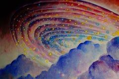 Pintura a óleo bonita Imagem de Stock