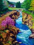 Pintura a óleo - cereja Fotografia de Stock Royalty Free