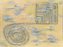 Pintura a óleo com testes padrões abstratos Fotografia de Stock