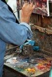 Pintura a óleo da bela arte foto de stock