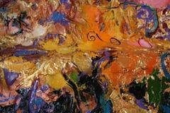Pintura a óleo da estrutura fotografia de stock royalty free