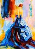 Pintura a óleo - dançarino espanhol ilustração royalty free