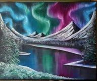 Pintura a óleo de Northrenlights Fotografia de Stock Royalty Free