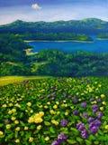Pintura a óleo - paisagem Imagem de Stock Royalty Free