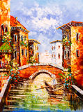Pintura a óleo - Veneza, Italy Imagem de Stock