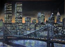Pintura 1986 de Manhattan imagens de stock royalty free