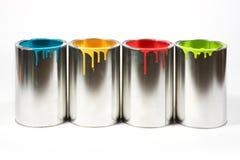 A pintura aberta buckets cores fotografia de stock royalty free