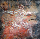 Pintura aborígene da rocha Fotografia de Stock