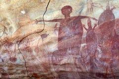 Pintura aborígene da rocha Fotos de Stock