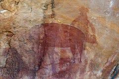 Pintura aborigen de la roca Foto de archivo